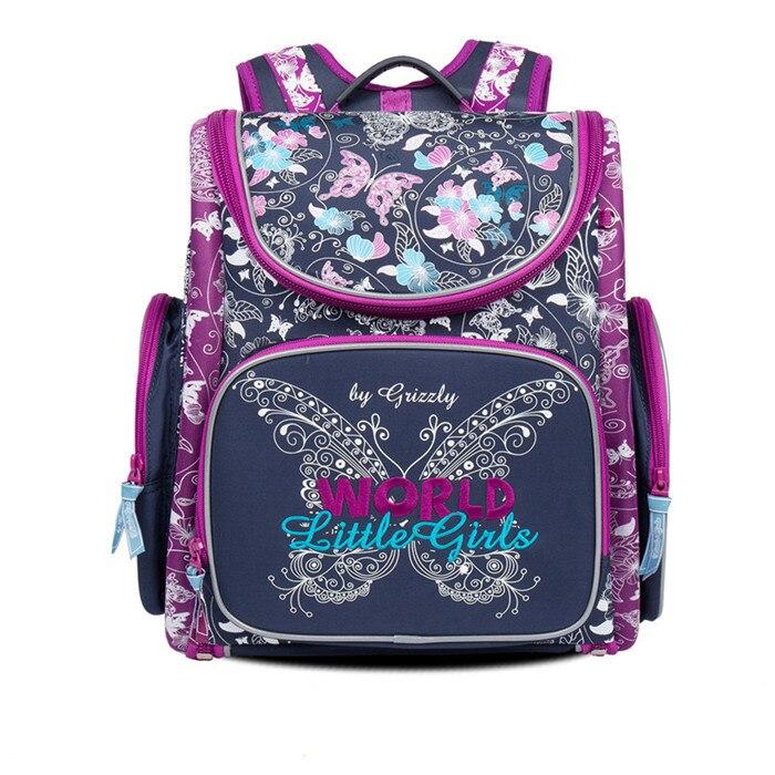 2019 mode Kinder Schule Taschen für Mädchen Nylon Wasserdichte Gefaltet Orthopädische Rucksäcke Schmetterling Buch Tasche Mochila Escolar-in Schultaschen aus Gepäck & Taschen bei  Gruppe 1