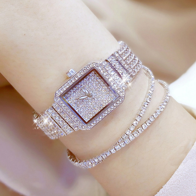 2017 Women Quartz Watches Luxury Diamond Elegant Dress Watches Ladies Wristwatch
