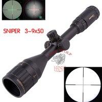 2018 Новый Взгляд Телескопический снайперский 3 9X50 Red Dot прицел для страйкбола пистолет открытый снайперская оптика целевой прицел