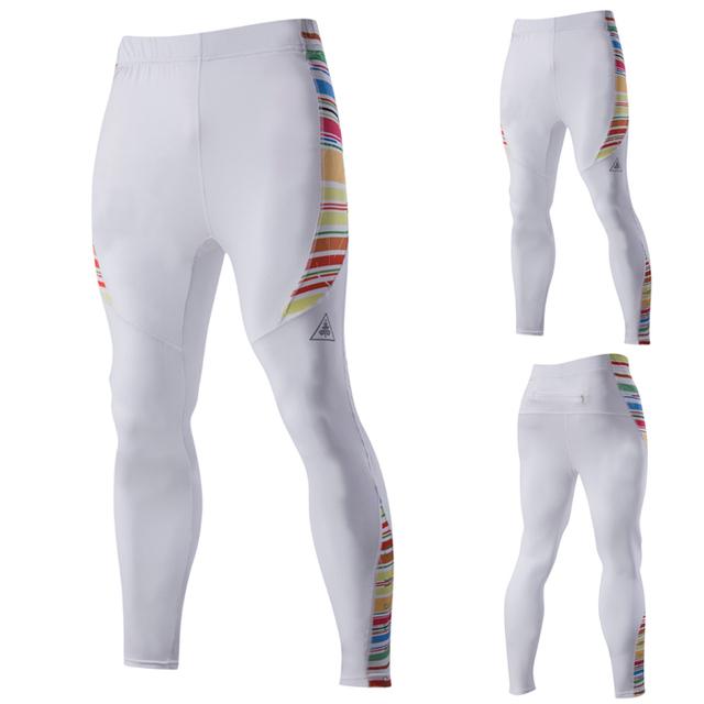 Calidad estupenda de Los Hombres jadean las medias de compresión vaina pantalones mans culturismo polainas flacas joggers MQ391
