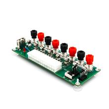 купить 2018 20/24Pins ATX Benchtop Power Board PC Computer Breakout Adapter Switch Module онлайн