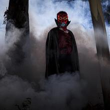 LED EL Cold Light Luminous Mask For Halloween Horror Masquerade Performance Prop Devil Masks Glow Party Suppli