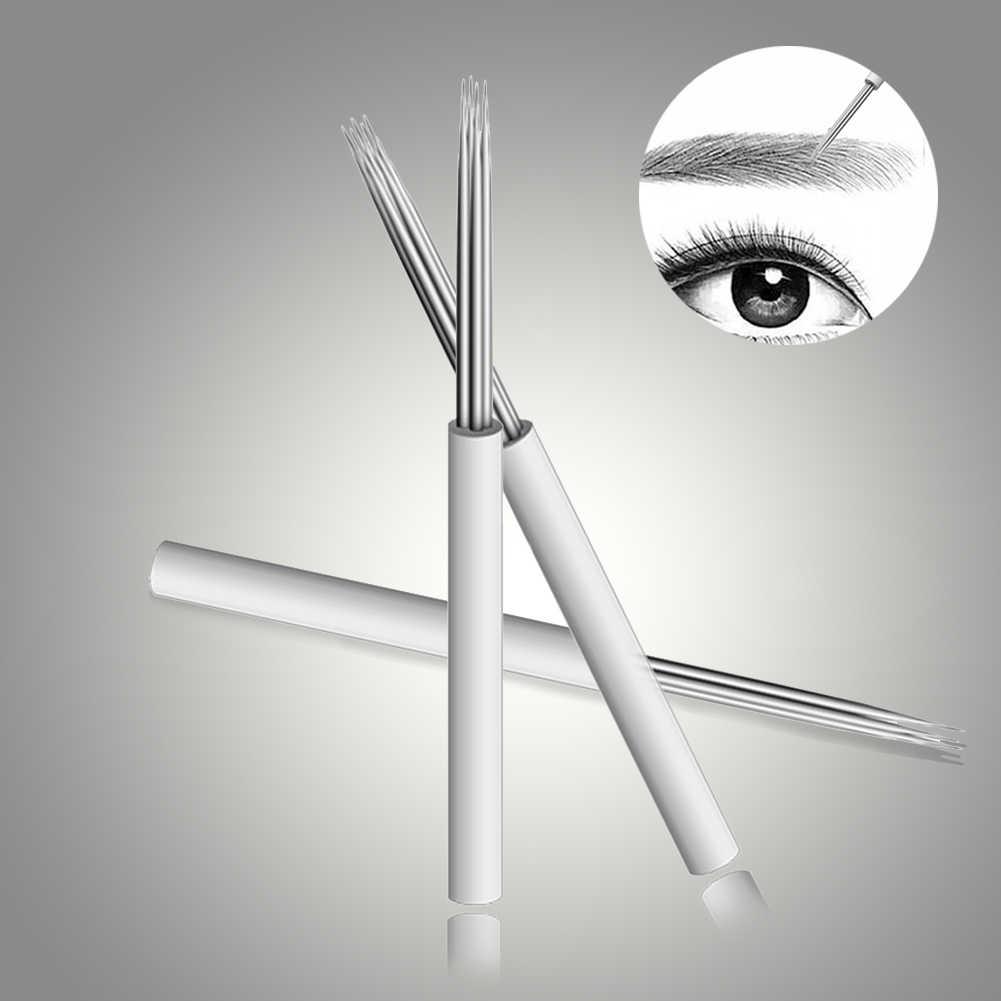 Wysokiej jakości makijaż marki profesjonalny Semi permanentny makijaż tatuaż na brwi ręcznie igły + ołówek do brwi brwi ostrze