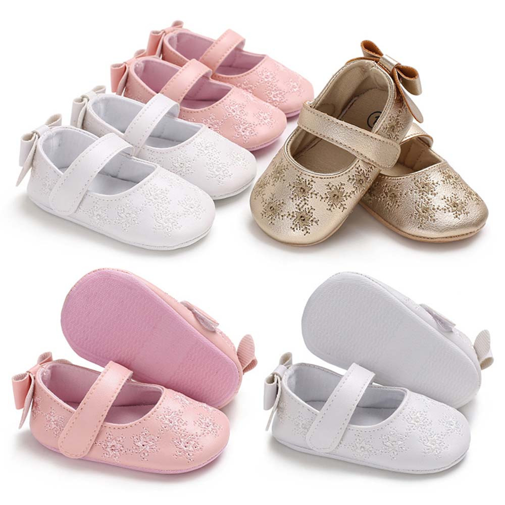 New Fashion Infant Baby Baby Girl Shoes Embroidery Soft Crib Anti-slip Floral Single Sneaker Drop Shipping