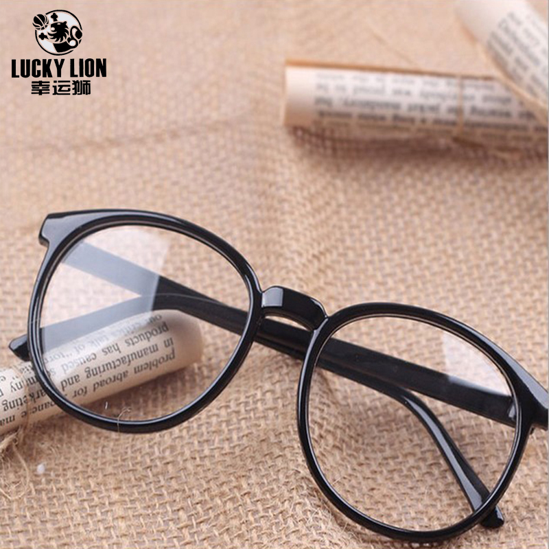 Vintage Retro Round Eyeglasses Brand Designer For Women Glasses Fashion Men Optical Eye Glasses Frame Eyewear Flat Mirror