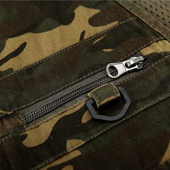 1pcs men camouflage fishing hunting vest cargo out