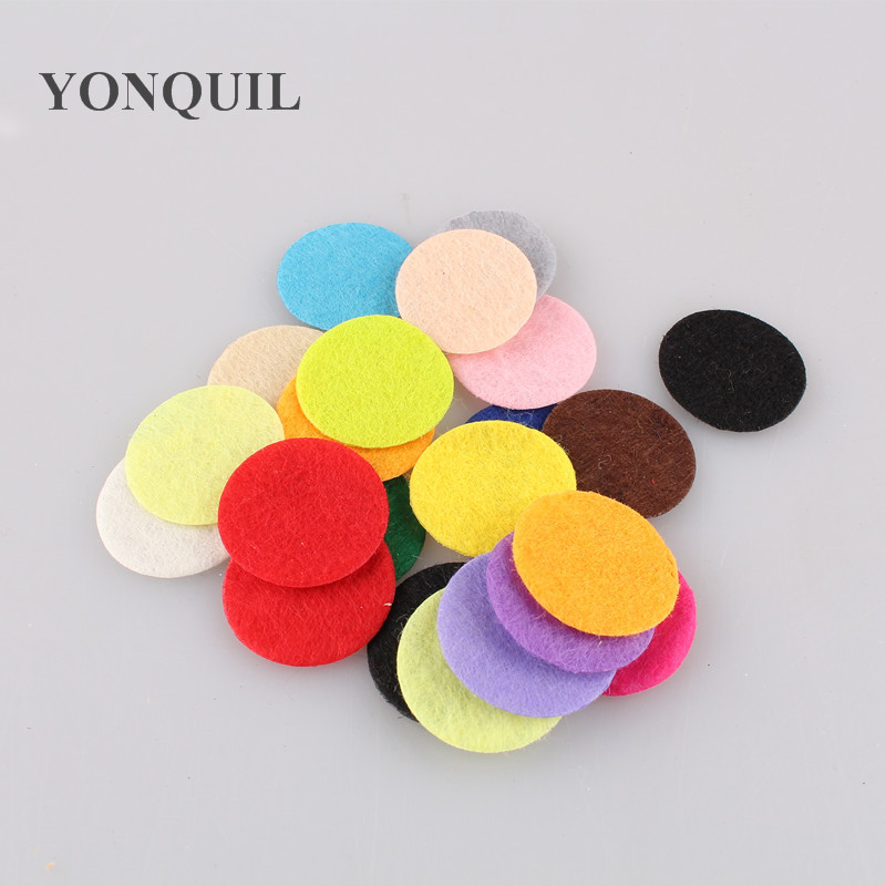 Free shipping 2.5*2.5cm Round Felt accessory patch/many color circle felt pads,DIY flower material $7.68/LOT,1000PCS/LOT