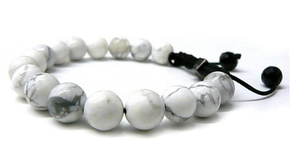 Us 4 22 24 Off Fashion Jewelry Rope Handmade High Quality White Howlite 10mm Beaded Bracelet For Men And Women Hot In Strand Bracelets From