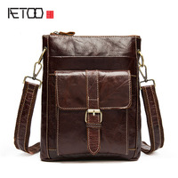 AETOO Leather men's first layer of leather men's shoulder bag casual postman Messenger bag vertical section of men's bags