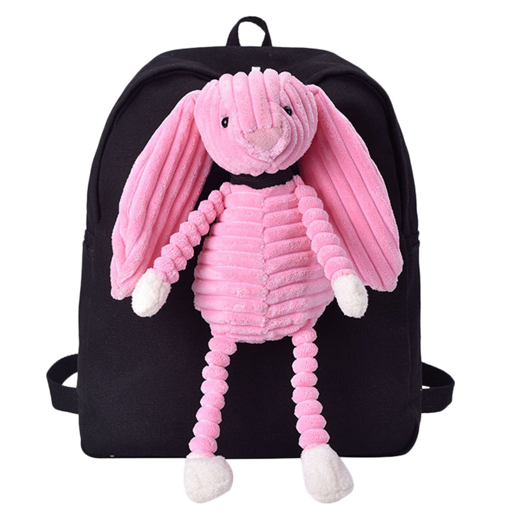 2019 New Female Bag with Plush Cartoon Cute Doll Student Campus Backpack Cute Backpack For Girls Canvas Bag dropshipping 621W(China)