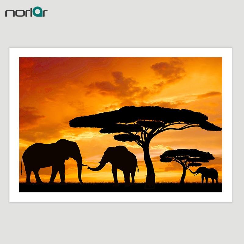 Obraz na plátně Slon při západu slunce Tisk Obraz na plátně do - Dekorace interiéru