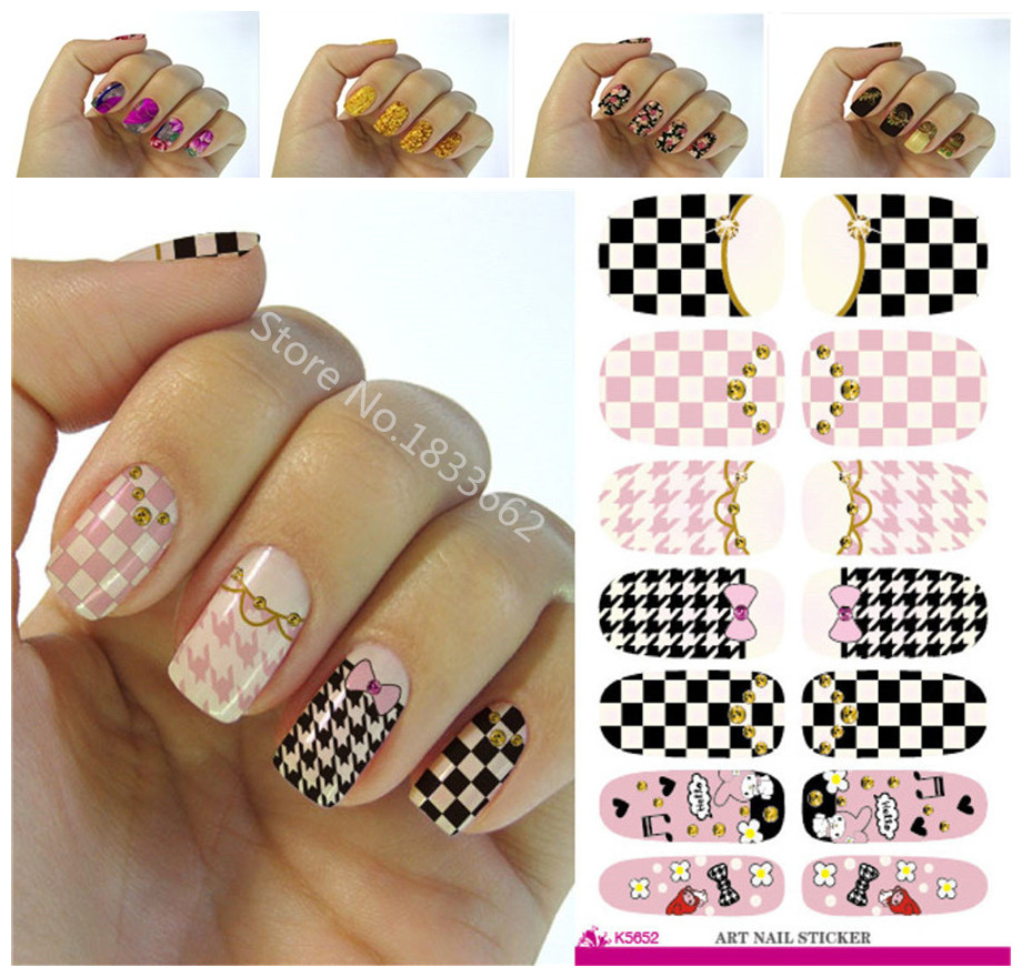 Aliexpress Fashion Nails Art Sticker Colored Bright Crystal Design Nail Manicure Decor Tools Wraps Decals K649 From Reliable