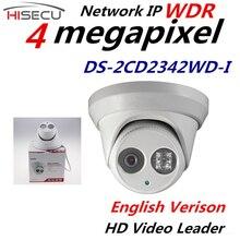 Новая Английская Версия Ip-камера 4.0 мегапикселя V5.3.3 Многоязычная ИК Купольная Камера Ip-камера Открытый DS-2CD2342WD-I