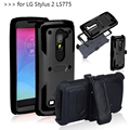 Heavy Duty Hybrid Dual Layer Rugged Anti-strike and Shockproof Armor Phone CASE for LG LS775 G Stylo 2 K520 Cover with belt clip