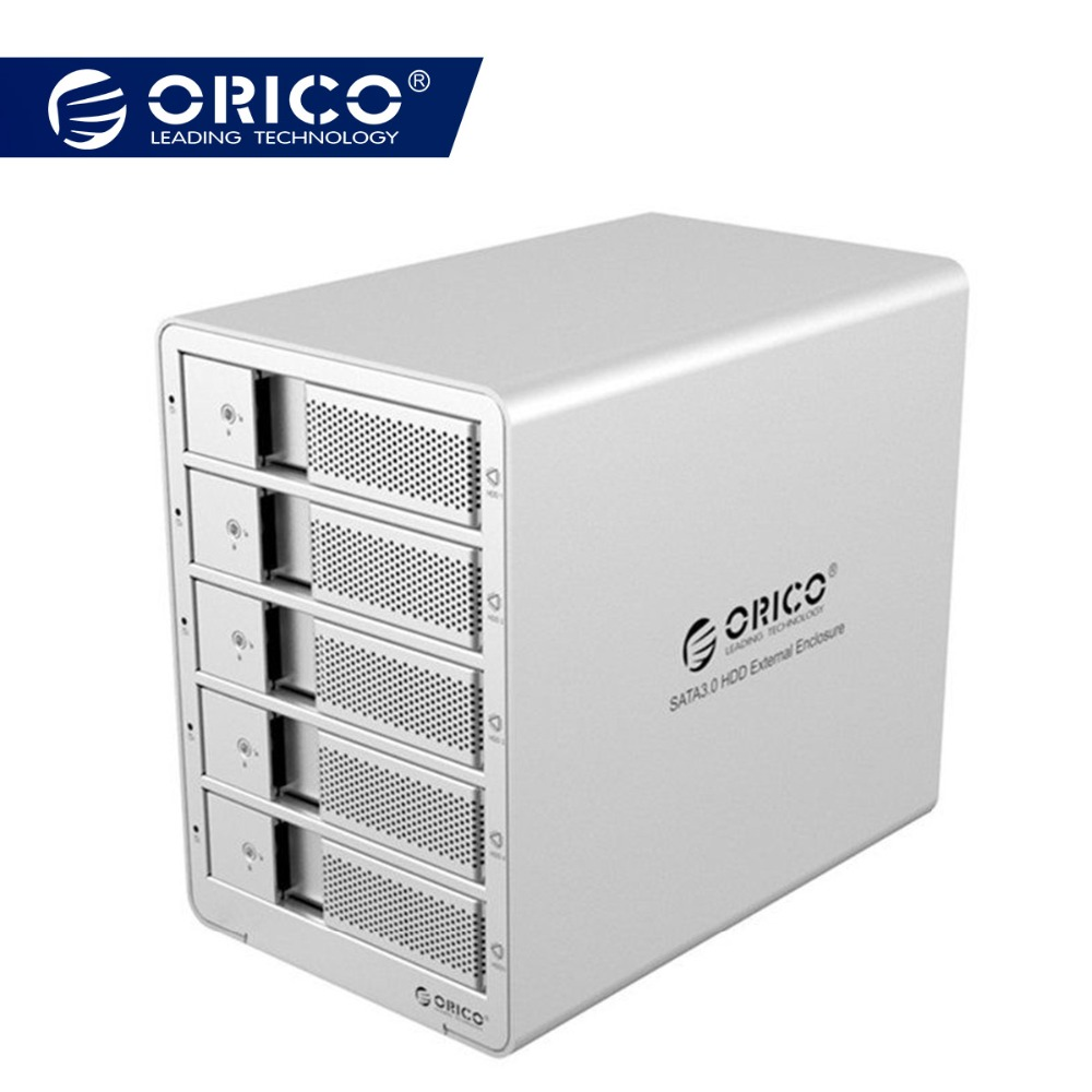 ORICO 9558U3 5-Bay 3.5 USB3.0 SATA boîtier Externe station d'accueil pour disque dur Cas pour disque dur Portable Lecteur PC (ruban)