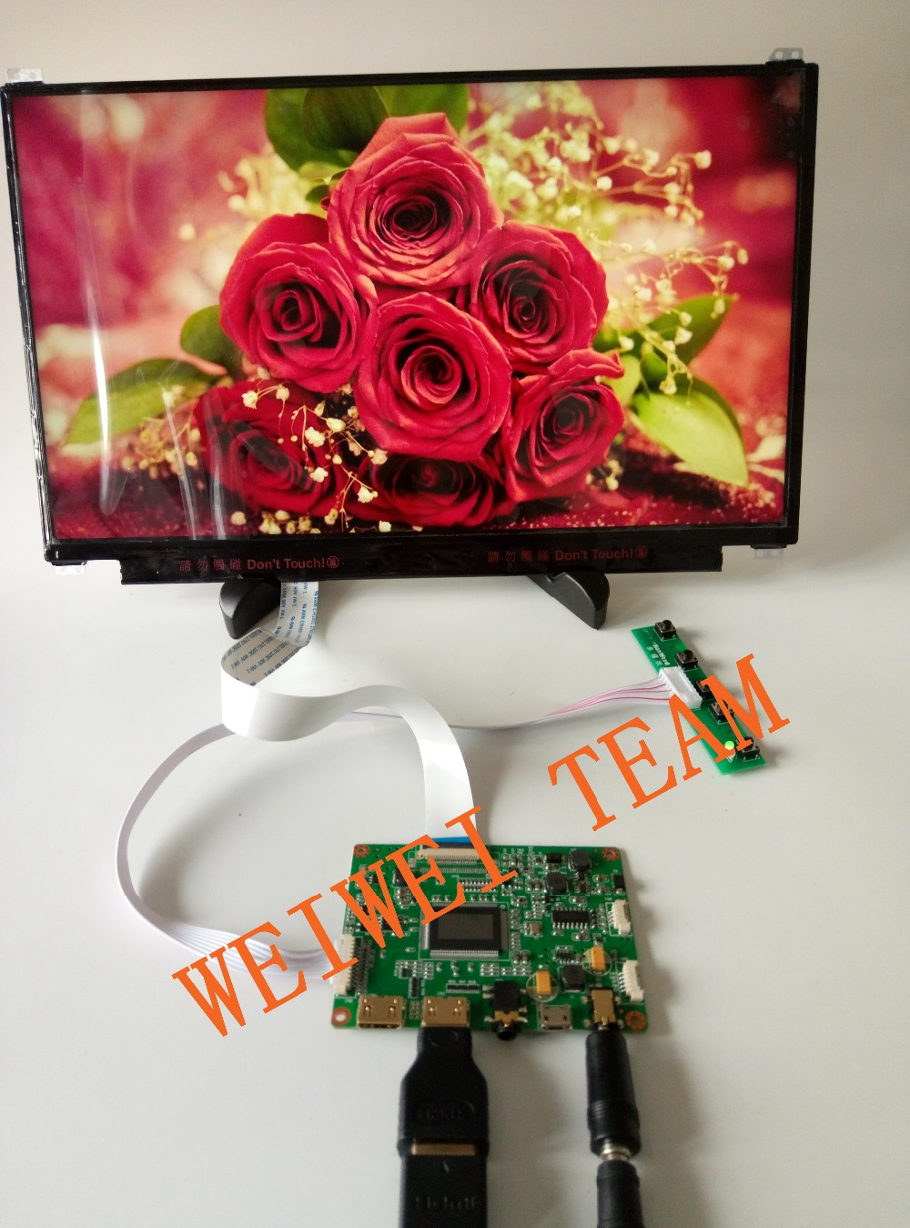 13.3 inch 1920x1080 IPS 1080P LCD Display Screen Module HDMI control Board for Diy Project Raspberry Pi 3 laptop pc monitor