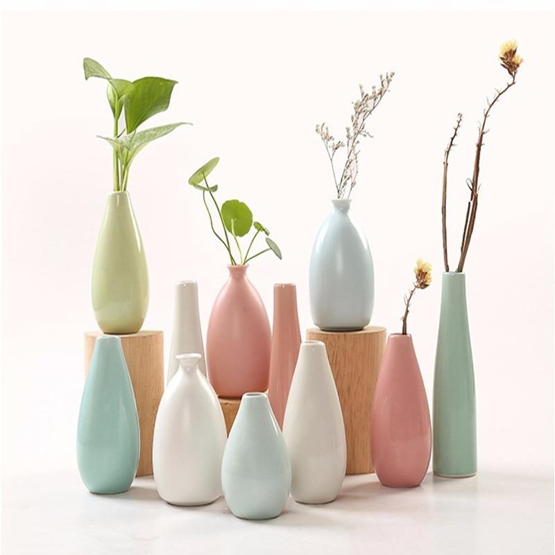 Мини Керамика ваза цветочный узор Творческий Цвет Керамика ваза для рабочего украшения Office для дома ремесел Керамика ваза для цветов E $