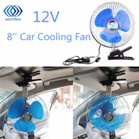 8 Inch Mini Oscillating Car Air Cooling Fan Clip On With Cigarette Lighter 12 24V