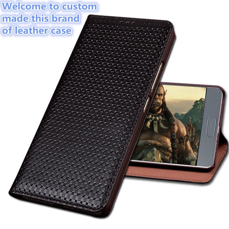 ZD04 Genuine Leather Case for Meizu Pro 6 Plus(5.7') Luxury Business Style Flip Stents Cover Bag for Meizu Pro 6 Plus Case