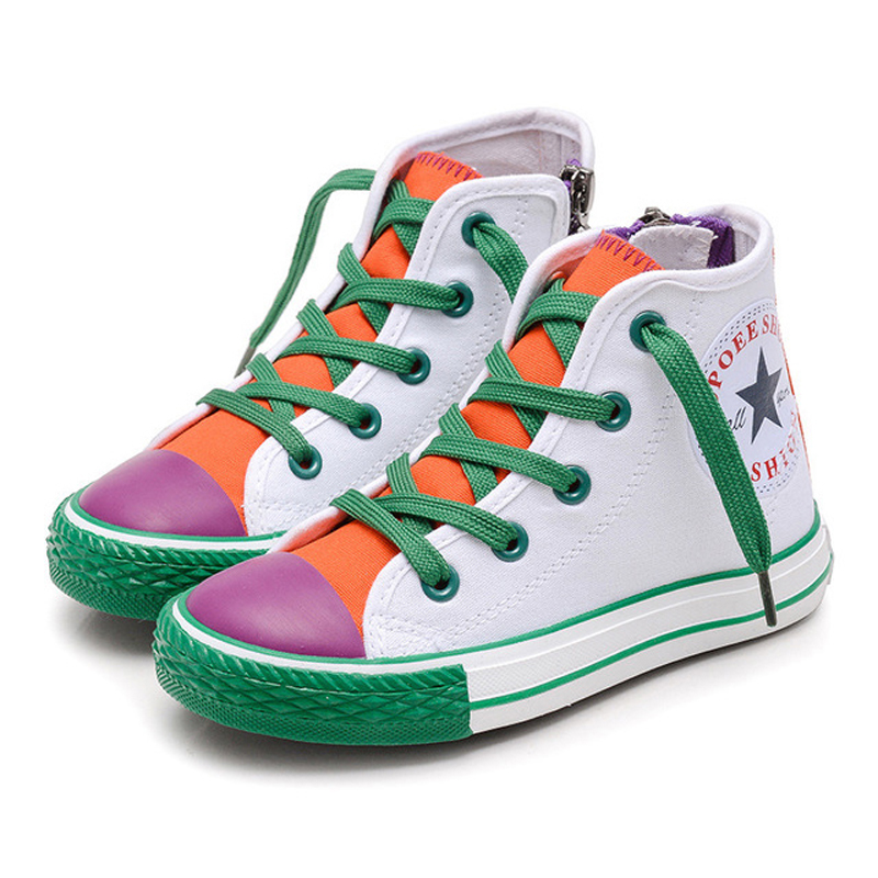 Children's Shoes For Girls 2019 New Spring Canvas Kids Sneakers Patchwork Baby Toddler Shoes Candy Color Footwear For Children