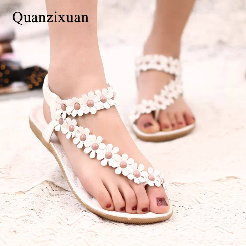 Summer Women Sandals Flower Shoes Women Fashion Flat Sandals Females Shoes Ladies Sandals
