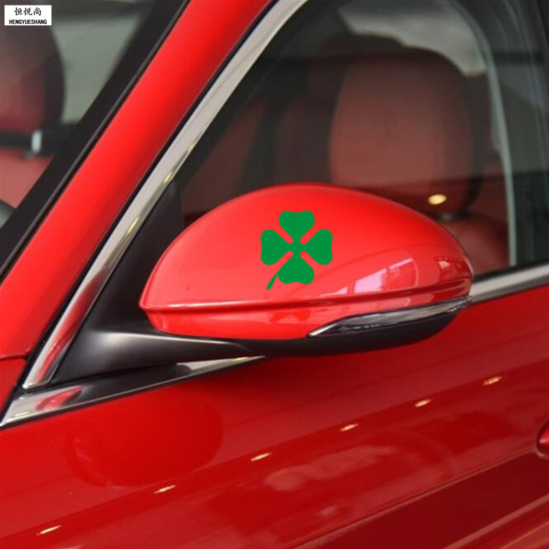 2PCS Car Fuel Tank Cap Sticker Rearview Mirror Stickers