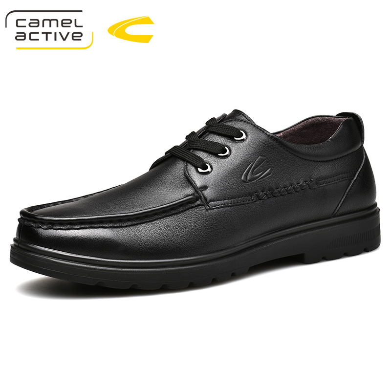 Camel Active New Luxury Style Mens Oxfords Genuine Leather Brown Black Brogue Shoes Men Formal Shoes Wedding Party Casual Shoes