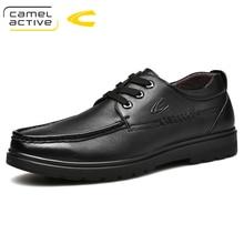 Camel Active zapatos Oxford de cuero genuino para hombre, estilo lujoso, marrón, negro, Brogue, formales, informales, para fiesta de boda