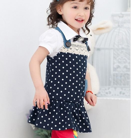 a2365da3fbd7 baby girls cute skirts one piece dress girls clothes cotton 10pcs ...