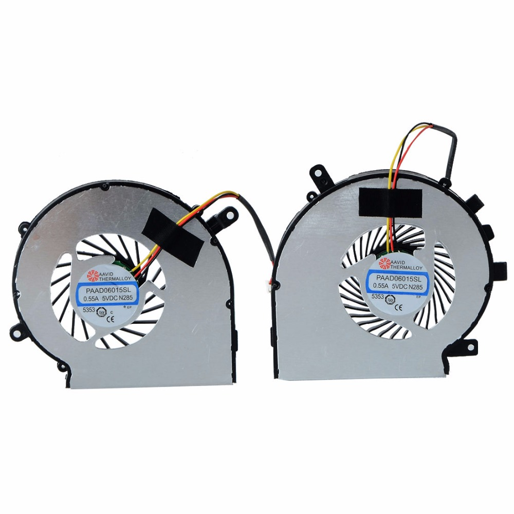8.28 SALE! 1 Pair Left + Right CPU Cooling Fan Fit For MSI GE62 GE72 GL62 GL72 PE60 PE70 GL62 silver aluminum car hawse fairlead for jeep wrangler 2007 2016