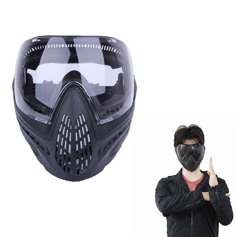 FMA Anti-fog Dustproof Protector Goggles Full Face Mask Outdoor Airsoft Safety F1 Paintball Goggles With Black Lens fma full founction pro