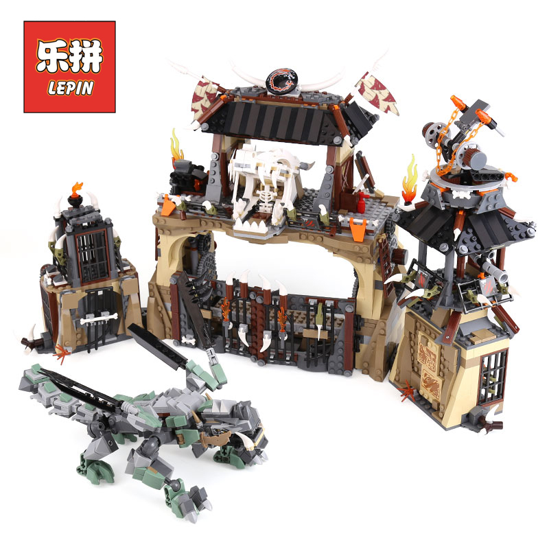 цена на Lepin Ninja Movie 06082 the Dragon Pit Set Compatible 70655 Model Building Blocks Bricks Kids Toy for Children Christmas Gift