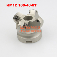 KM12 160 40 6T 45 Degree Shoulder Face Mill Head CNC Milling Cutter,milling cutter tools,carbide Insert SEHT1204