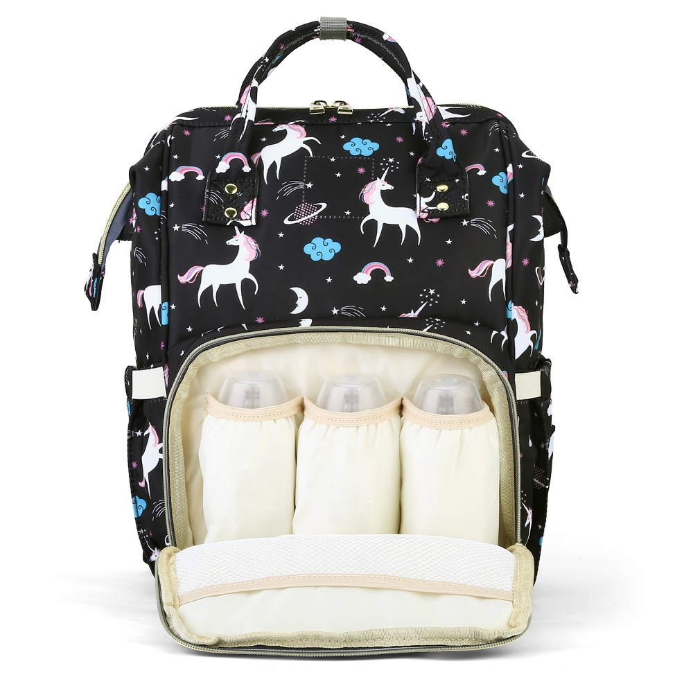 2018 New Fashion Baby Diaper Bags Waterproof Unicorn Pattern Durable Separate Pockets Mummy Maternity Bag functional Backpack