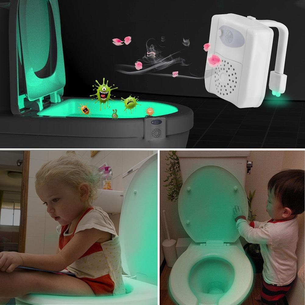UV Sterilization Toilet Bowl Light 16 Colours Sensor Body Motion Sensor PIR Toilet Light LED Lamp Activated Toilet Night Light 16 toilet bowl brush and caddy in white [set of 12]