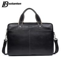 BOSTANTEN Genuine Leather Bag Casual Men Handbags Cowhide Men Crossbody Bag Men S Travel Bags Large