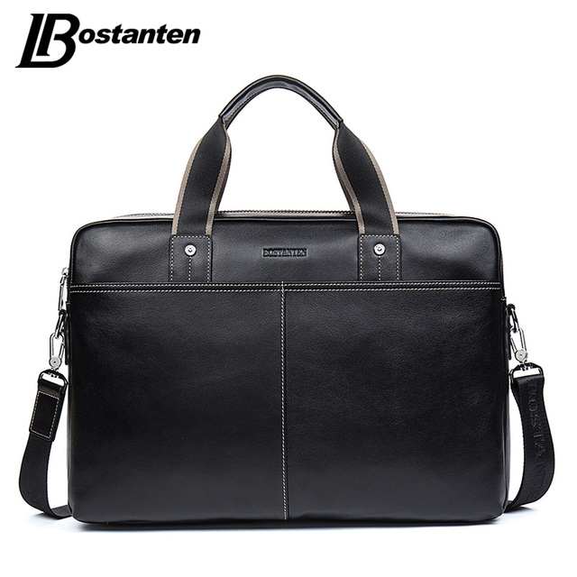 Bostanten homens casuais saco de couro genuíno bolsas de couro homens saco crossbody sacos de viagem dos homens grande saco laptop maleta para homem
