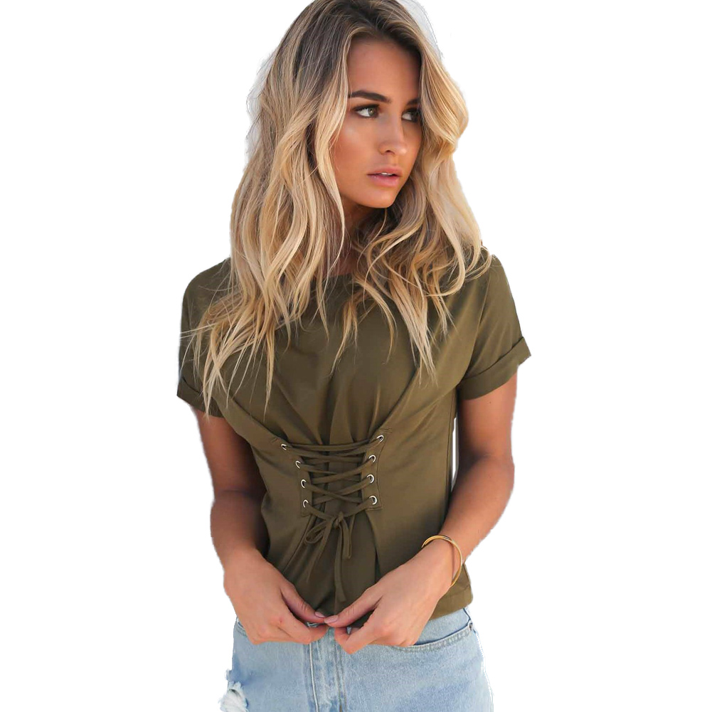 Punk Rock Streetwear Lace Up Peplum   Blouse     shirt   Short Sleeve Waist Tie Black Summer   Blouses   Women Tops Casual   Blouse   Blusas