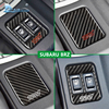 Airspeed For Subaru BRZ Carbon Fiber Seat Heating Switch Button Cover Decoration Frame STI Sticker Car