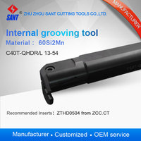 Zhuzhou sant Internal grooving and turning tool holder C40T QHDL13 54/ C40T QHDR13 54 with insert ZTHD0504 MG