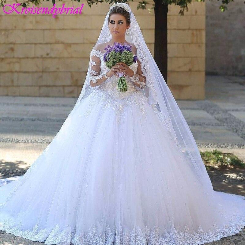 QFS047 robe de mariage Long Sleeves Vintage Lace Wedding Dresses Cheap Romantic Modest Sale Bridal Dress