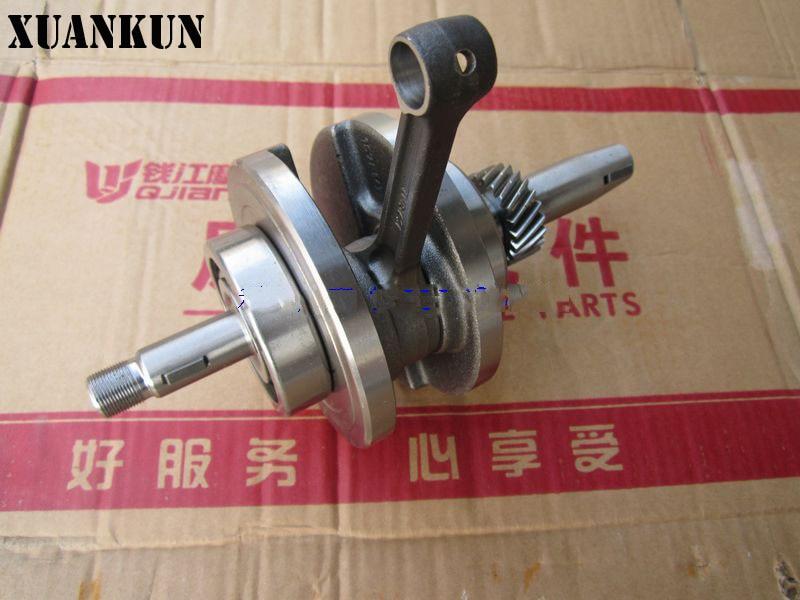 XUANKUN QJ125-18A Crankshaft QJ150-12 -16 Connecting Rod Assembly 125-23 xuankun 150 qs150t 3 scooter crankshaft connecting rod crankshaft bearing crank
