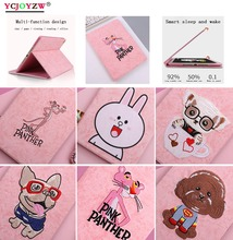 YCJOYZW-Case for iPad Pro 9.7 inch 2016,Applicable Model: A1673`1674`A1675.3D Cartoon Embroidery PC+PU Smart Wake Tablet Case