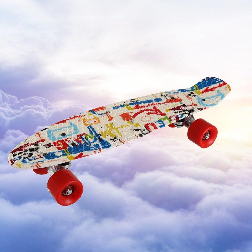 22*06 pouce PP planche à roulettes poissons skate board banana board mini cruiser longue planche à roulettes à quatre roues rue longboard