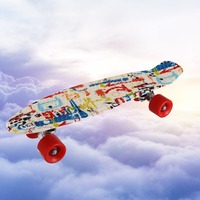 22*06inch PP skateboard fish skate board banana board mini cruiser long skateboard four wheel street longboard