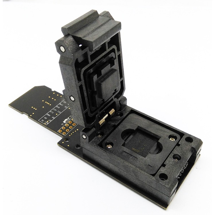 EMCP162/186 Test Socket BGA162 BGA186 Reader IC Size Pin Pitch 0.5mm Nand Flash Programmer Adapter Data Recovery