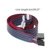 4pcs 100cm 4pin Stepper Motor Cables XH2 54 Terminal Wire For 3D Printer NEMA 17 Stepper