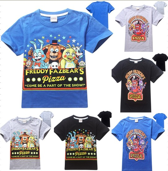 bc68d086e9fff US $8.8 |boys clothes cartoon children t shirts five nights at freddy's  clothing camiseta kids clothes boys t shirt 5 freddys tops-in T-Shirts from  ...
