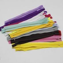 2pcs / lot 23CM Length Invisible zipper coil DIY nylon sewing clothes tailor pillow pad tool accessories