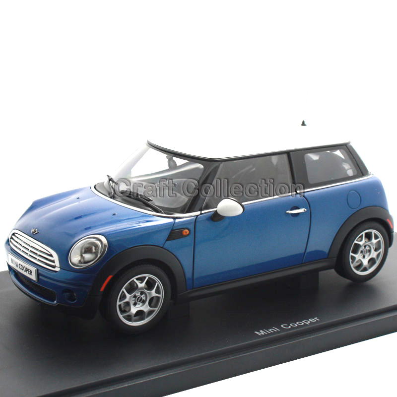 * Blue 1:18 AUTOart Mini Cooper Diecast Modell Auto Luxury Vehicle Hot Selling Simulation